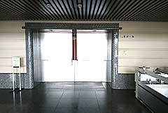 火葬ホール入口